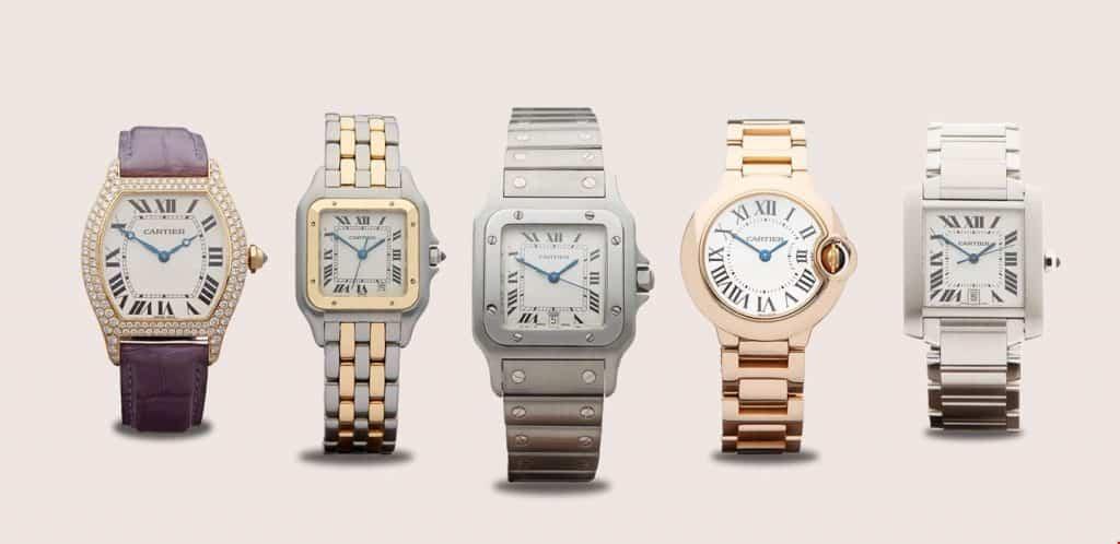 Popular cartier watch models